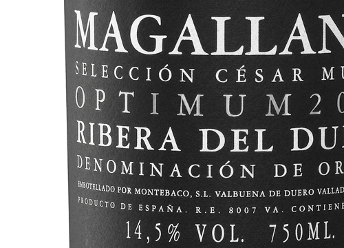 etiqueta vino Magallanes Optimum