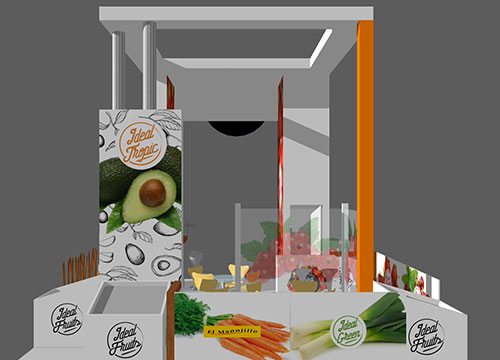diseño stand fruit